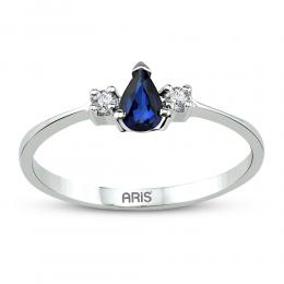 0,66 ct Saphir Diamant Ring