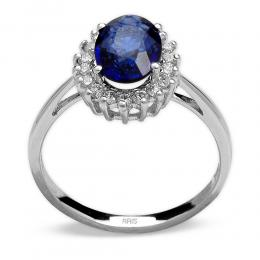 1,14 ct Saphir Diamant Ring