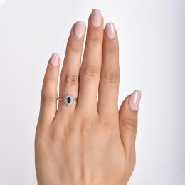 0,57 ct Saphir Diamant Ring
