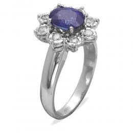 1,70 ct Saphir Diamant Ring