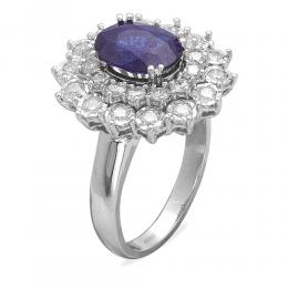 2,35 ct Saphir Diamant Ring