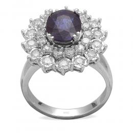 2,35 ct Saphir Diamant Ring