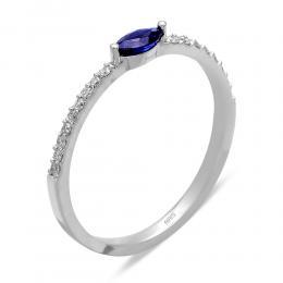 0,13 ct Saphir Diamant Ring