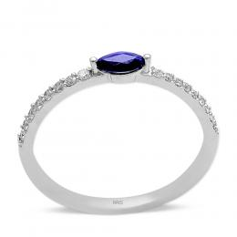 0,13 ct Saphir Diamant Ring