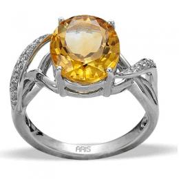 4,52 ct Sitrin Diamant Ring