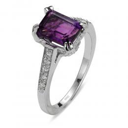 1,50 ct Amethyst Diamant Ring