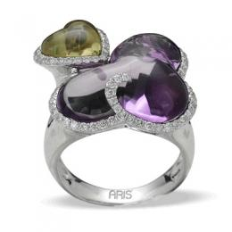 20,57 ct Amethyst Diamant Ring