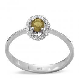 0,27 ct Citrin Diamant Ring