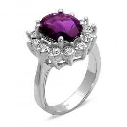 3,27 ct Amethyst Diamant Ring