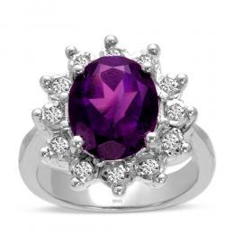 3,27 ct Amethyst Diamant Ring