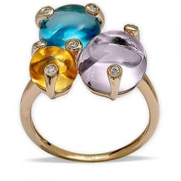 10,93 ct Farbedelstein Diamant Ring