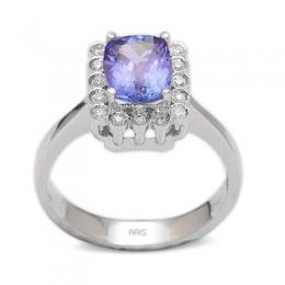 1,37 ct Tansanit Diamant Ring