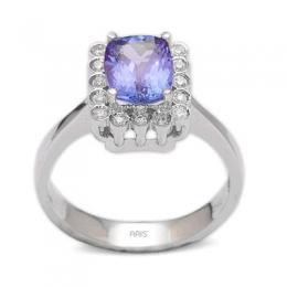 1,37 ct  Tansanit Ring