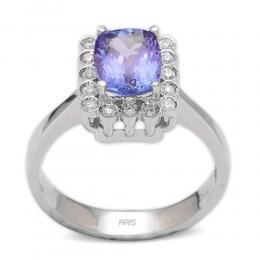 1,37 ct Tansanit Diamant Ring