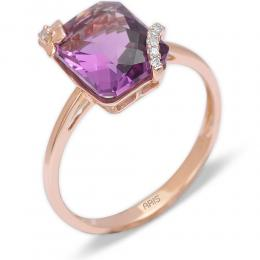 2,72 ct Amethyst Diamant Ring