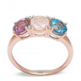 1,94 ct Farbedelstein Diamant Ring