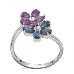 1,71 ct Farbedelstein Diamant Ring