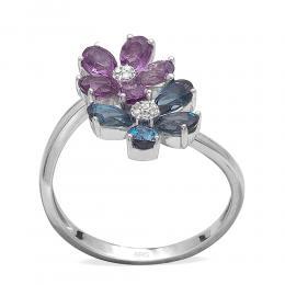 1,71 ct Farbedelstein Diamant Ring