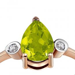 1,3 ct Peridot Diamant Ring