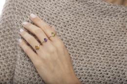 1,48 ct Blautopas Diamant Ring