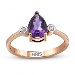 1,08 ct Amethyst Diamant Ring