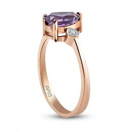 1,08 ct Amethyst Diamant Ring