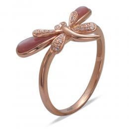 0,50 ct Perle Diamant Ring