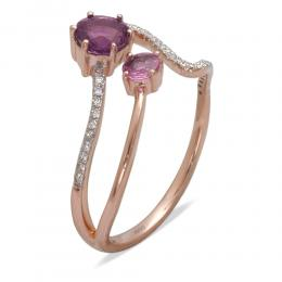 0,42 ct Amethyst Diamant Ring