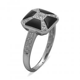0,92 ct Onyx Diamant Ring