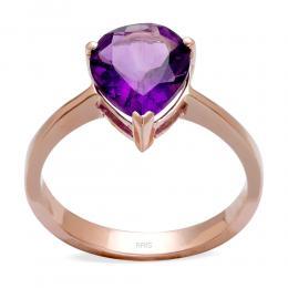 Amethyst Ring in 585er Rosegold