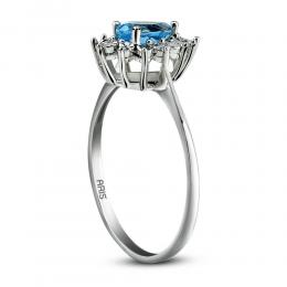 0.47 ct. Blue Topas Ring
