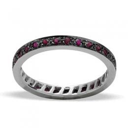 0,63 ct  Rubin Ring