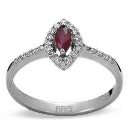 0,16 ct Rubin Diamant Ring
