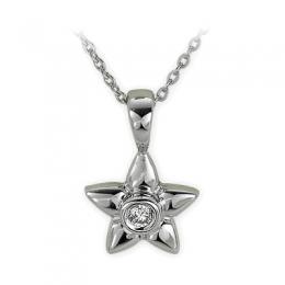 0,02 ct Diamant Stern Kette