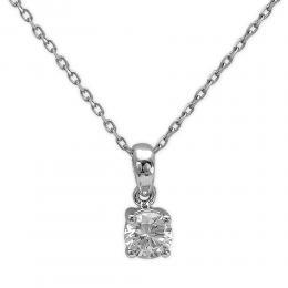 0,57 ct  Diamant Solitärketten