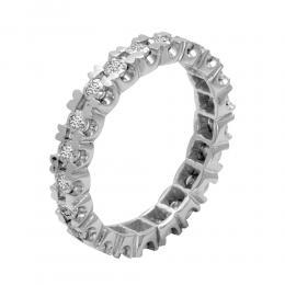 0,18 ct Diamant Memoire Ring