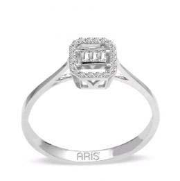 0,11 ct Diamant Baguette Ring