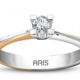 0,53 ct Saphir Diamant Ring