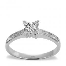 0,22 ct Diamant Verlobungsring