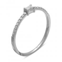0,19 ct Diamant Baguette Ring