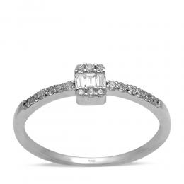 0,18 ct Diamant Baguette Ring