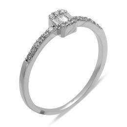 0,18 ct Diamant Baguette Ring