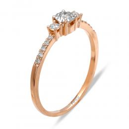 0,18 ct Diamant Verlobungsring