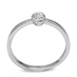 0,10 ct Diamant Solitärring