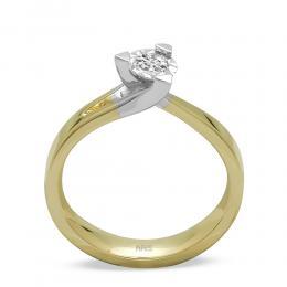 0,14 ct Diamant Solitärring (0.50 Ct Ansicht)