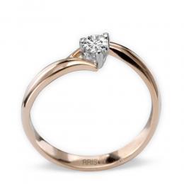 0,15 ct Rosegold Diamantrring mit 3 Krappenfassung
