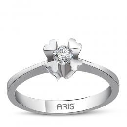 0,18 ct Diamant Solitärring