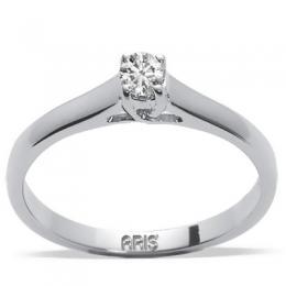 0,09 ct Diamant Solitärring feine 4- Fach Krappenfassung