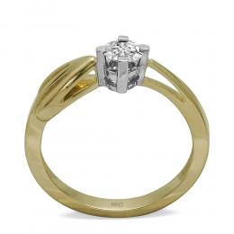 0,09 ct Diamant Miracle Solitärring (0.45 Ct Ansicht)