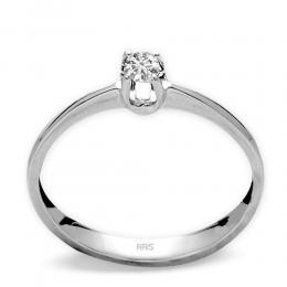 0,05 ct Diamant Solitärringi schlichte 4- Fach Krappenfassung